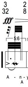 A simple 5:3 polyrhythm