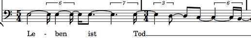 The human-readable quantized notation for Haddad's motets