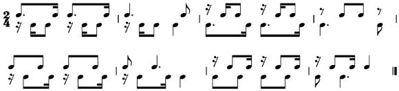 "A rhythmic exercise from ""Elementary Training"""
